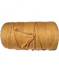 Australian Natural Cotton Cord Light Brown 4mm 1KG