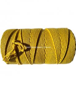 Australian Natural Cotton Rope - Mustard Colour - 4.5mm 1KG