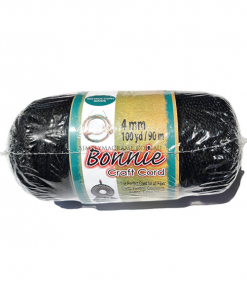 4mm Black Bonnie Cord